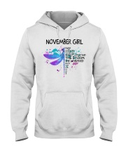 Dragonfly - November girl Hooded Sweatshirt front