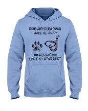 dog-scuba diving make me happy Hooded Sweatshirt front