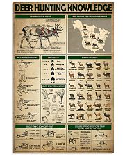 Deer Hunting Knowledge 0038 11x17 Poster front