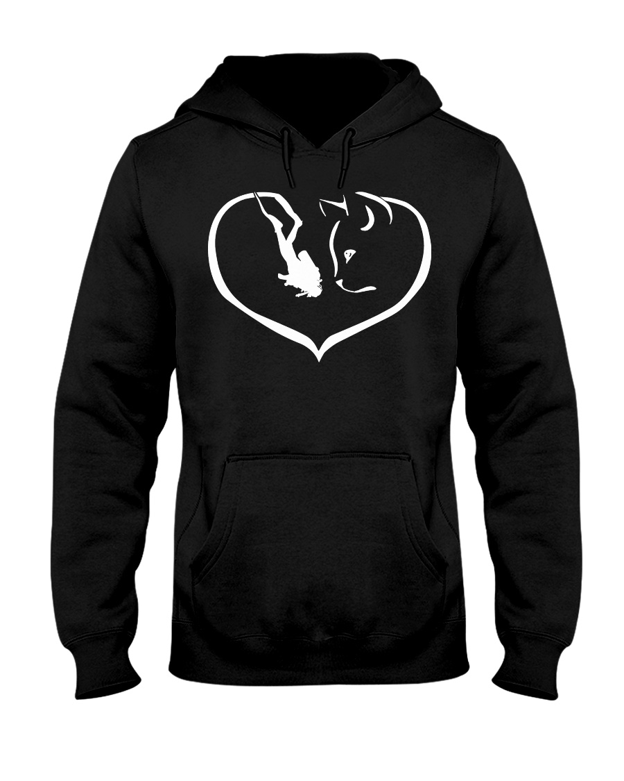cats-scuba divng make me happy PT Hooded Sweatshirt