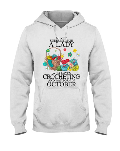 A lady loves crocheting October