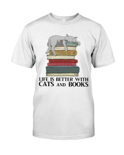 Cats And Book - Life Is Better