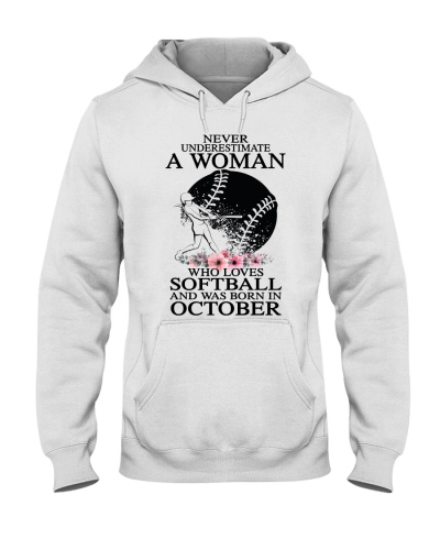 A woman loves softball and was born in October