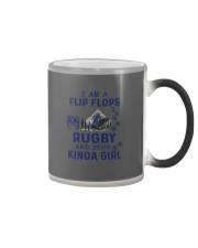 I Am A Flip Flops Kinda Girl - Rugby Color Changing Mug thumbnail