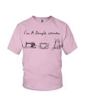 Simple Woman - cat Youth T-Shirt thumbnail