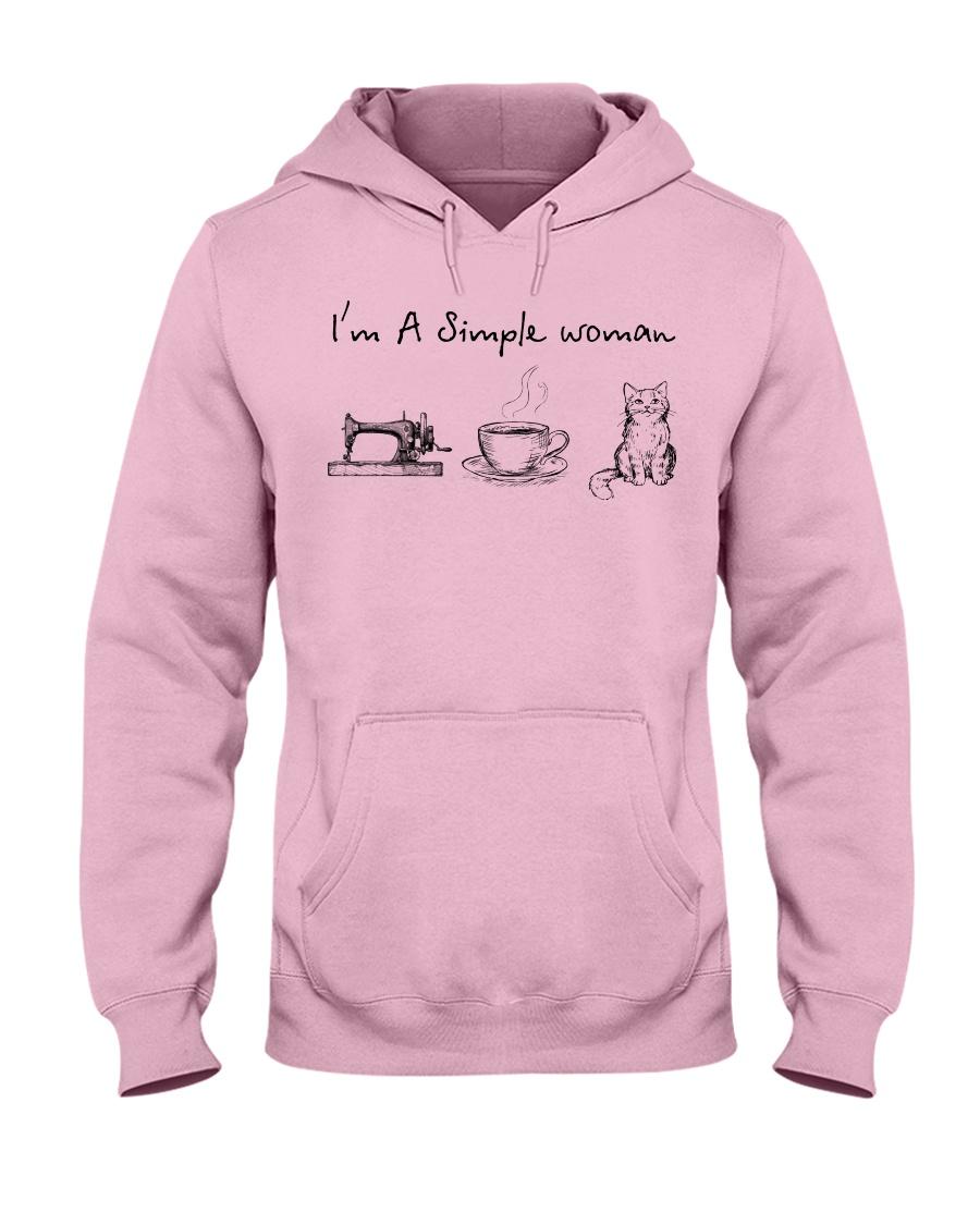 Simple Woman - cat Hooded Sweatshirt