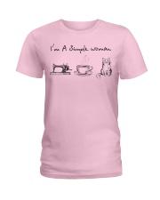 Simple Woman - cat Ladies T-Shirt thumbnail