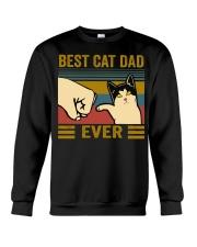 Best Cat Dad Ever Crewneck Sweatshirt thumbnail