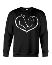 easily distracted by horse and dog  Crewneck Sweatshirt thumbnail