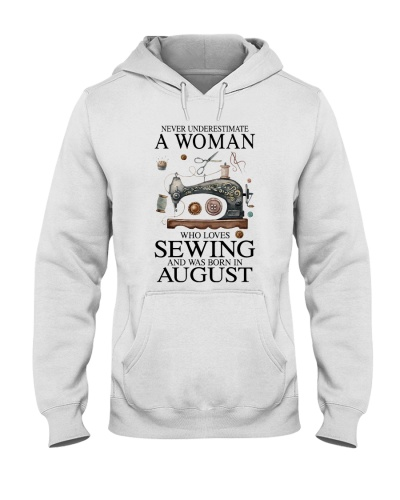 A woman loves sewing and was born in August