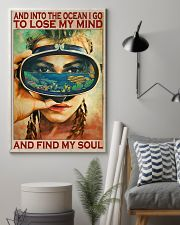 And Into The Ocean - Scuba Diving 11x17 Poster lifestyle-poster-1