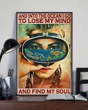 And Into The Ocean - Scuba Diving 11x17 Poster lifestyle-poster-2