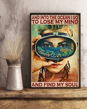 And Into The Ocean - Scuba Diving 11x17 Poster lifestyle-poster-3