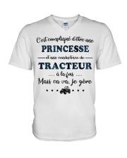 Princesse Mais Ca Va - Tracteur V-Neck T-Shirt thumbnail