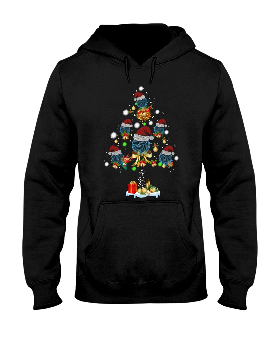 crochet christmas Hooded Sweatshirt