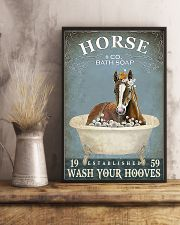 Wash your hooves vertical poster 11x17 Poster lifestyle-poster-3