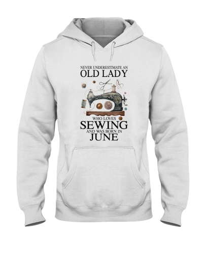Old lady loves sewing and was born in June