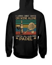 A woman cannot survive - padel Hooded Sweatshirt back