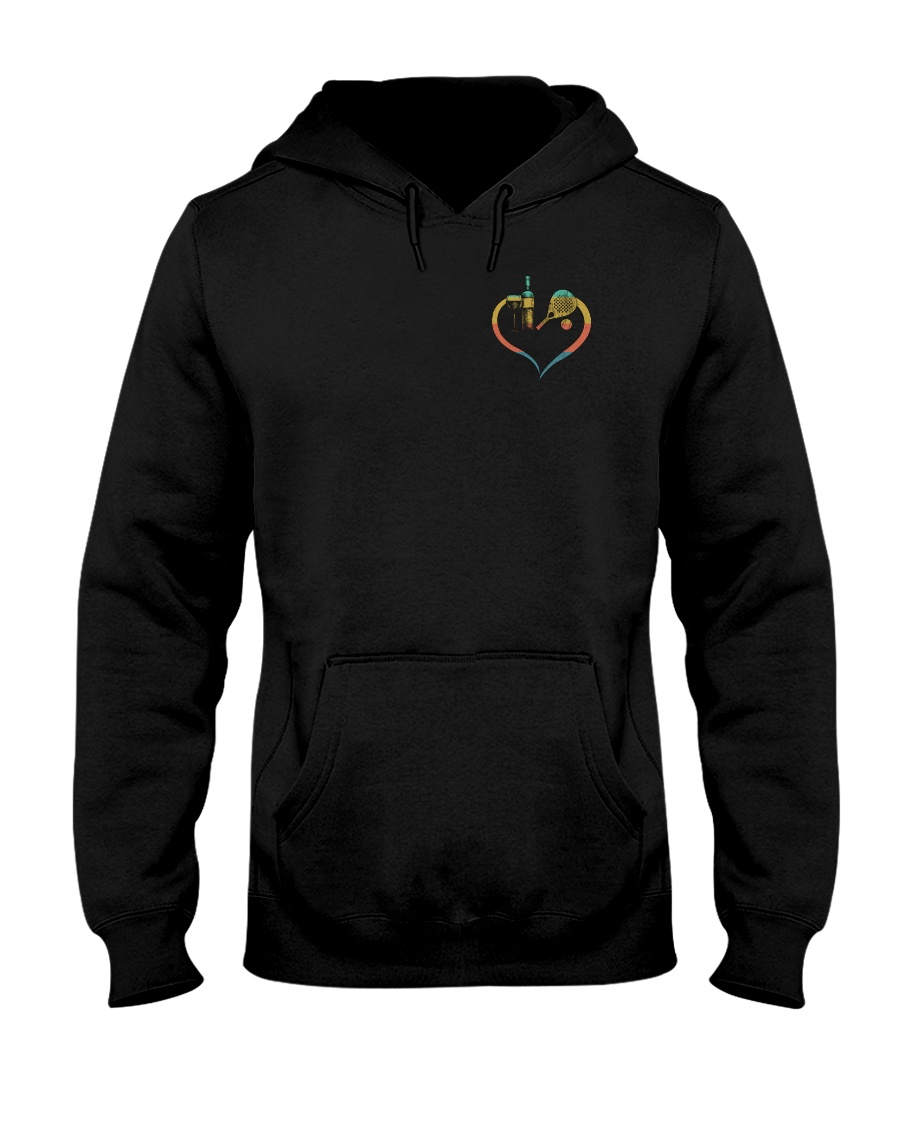 A woman cannot survive - padel Hooded Sweatshirt