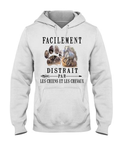Cheval chien facilement distrait