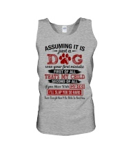 dog - assuming it is just a dog Unisex Tank thumbnail