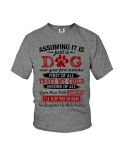 dog - assuming it is just a dog Youth T-Shirt thumbnail