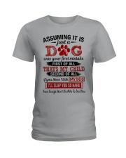 dog - assuming it is just a dog Ladies T-Shirt thumbnail