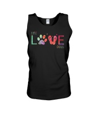 life love dogs Unisex Tank tile