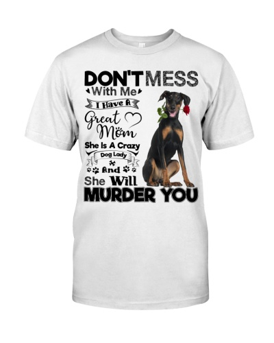 dog mom crazy Doberman 9997