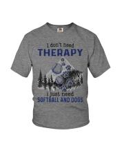 I Don't Need Therapy - Softball Youth T-Shirt thumbnail