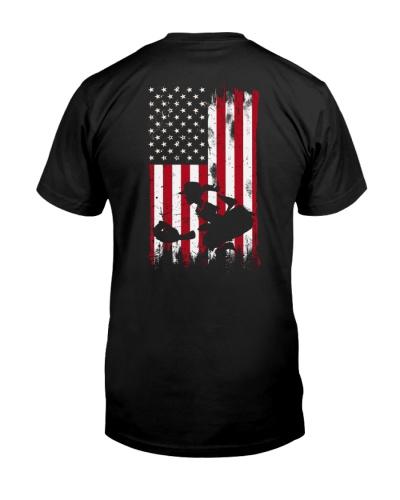 Softball girl USA flag 2 sides printed
