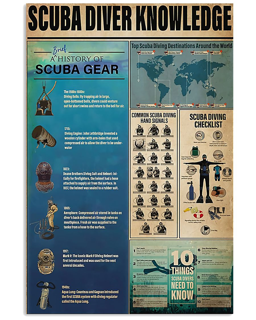Scuba Diver Knowledge 0012 11x17 Poster