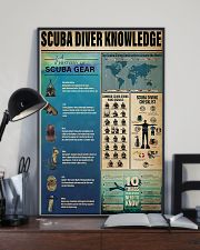 Scuba Diver Knowledge 0012 11x17 Poster lifestyle-poster-2