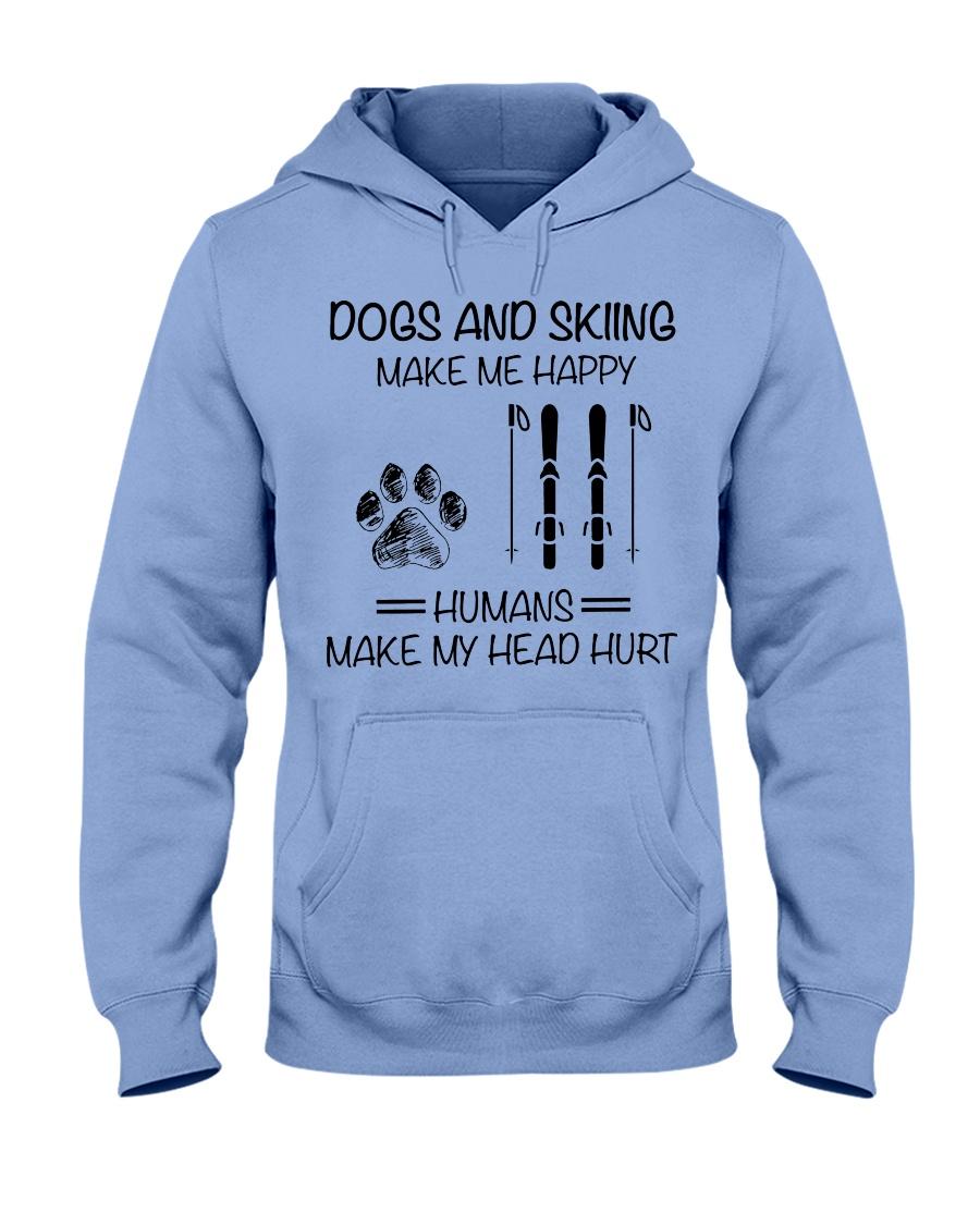 dogs-skiing make me happy Hooded Sweatshirt