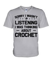 Crochet - Sorry I wasn't V-Neck T-Shirt thumbnail
