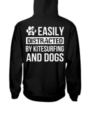easily distracted by kitsufing and dog  Hooded Sweatshirt back