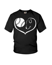 easily distracted by softball and dog  Youth T-Shirt thumbnail