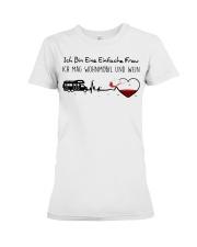 Wohnmobil Und Wein Premium Fit Ladies Tee thumbnail