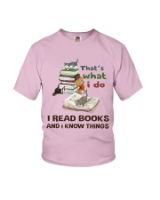 I Read Books And I Know Things Youth T-Shirt thumbnail