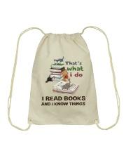 I Read Books And I Know Things Drawstring Bag thumbnail