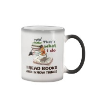 I Read Books And I Know Things Color Changing Mug thumbnail