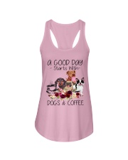 A Good Day Starts With Dog And Coffee Ladies Flowy Tank thumbnail