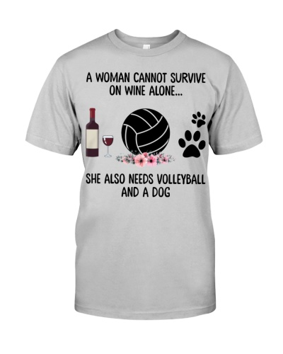 She needs wine dog volleyball