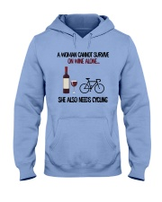 cycling2-woman cannot survive Hooded Sweatshirt front