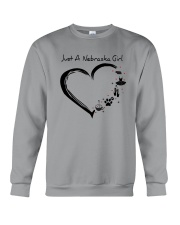 Just A Nebraska Girl Crewneck Sweatshirt thumbnail