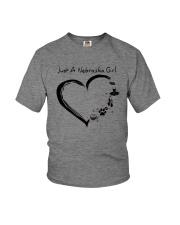 Just A Nebraska Girl Youth T-Shirt thumbnail