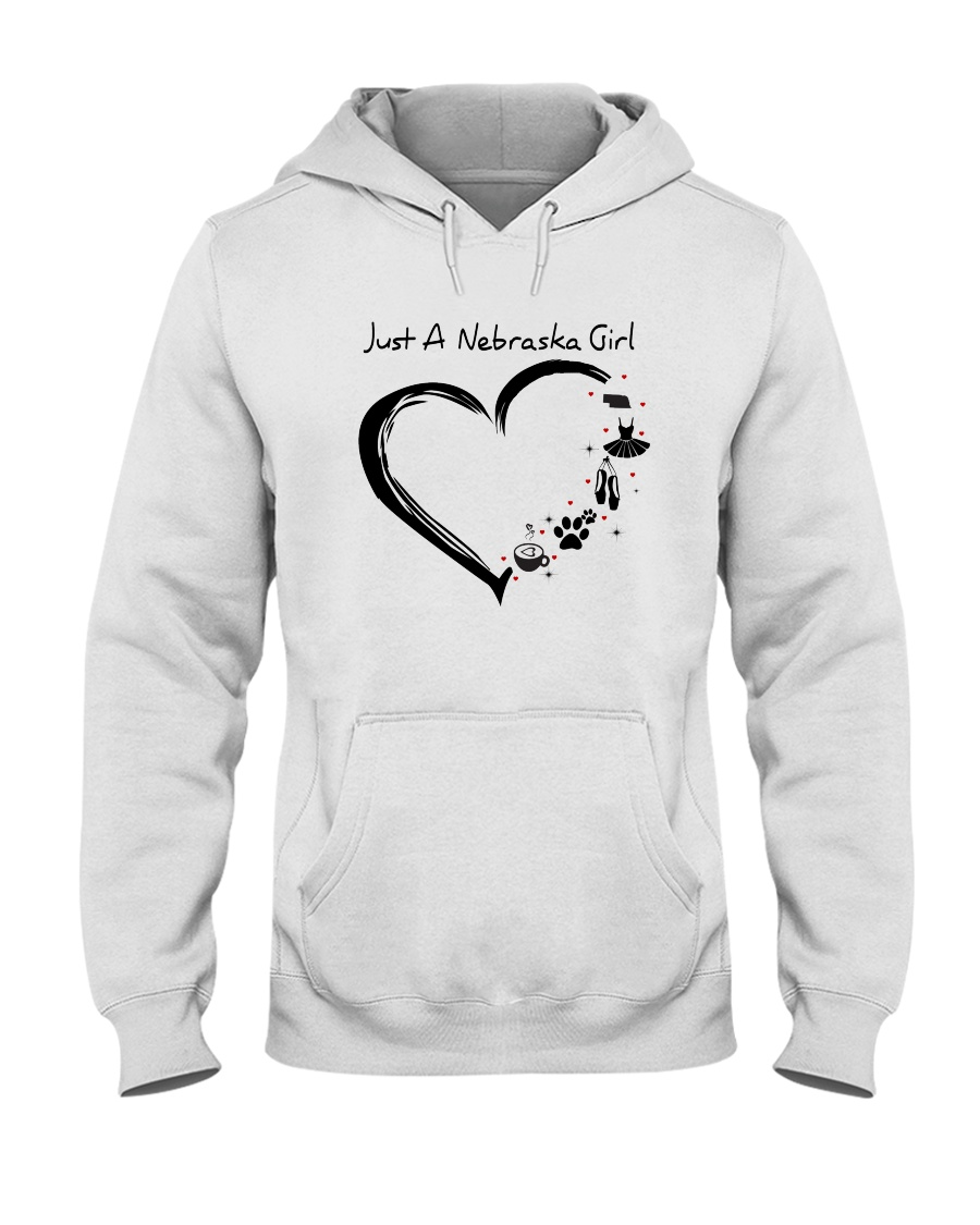 Just A Nebraska Girl Hooded Sweatshirt