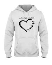 Just A Nebraska Girl Hooded Sweatshirt front