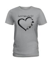 Just A Nebraska Girl Ladies T-Shirt thumbnail
