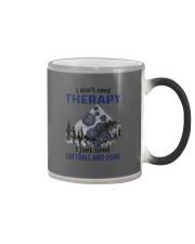 I Don't Need Therapy - Softball PT Color Changing Mug thumbnail